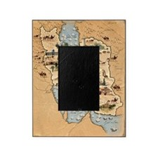 Iran, pictorial map Picture Frame