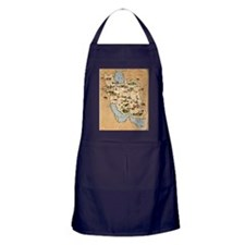 Iran, pictorial map Apron (dark)