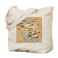 Iran, pictorial map Tote Bag
