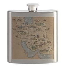 Iran, pictorial map Flask