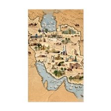Iran, pictorial map Decal