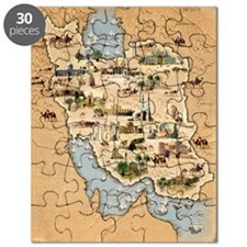 Iran, pictorial map Puzzle