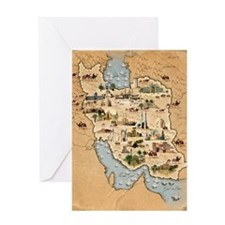 Iran, pictorial map Greeting Card