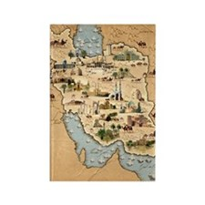 Iran, pictorial map Rectangle Magnet