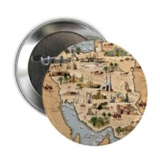 """Iran, pictorial map 2.25"""" Button"""