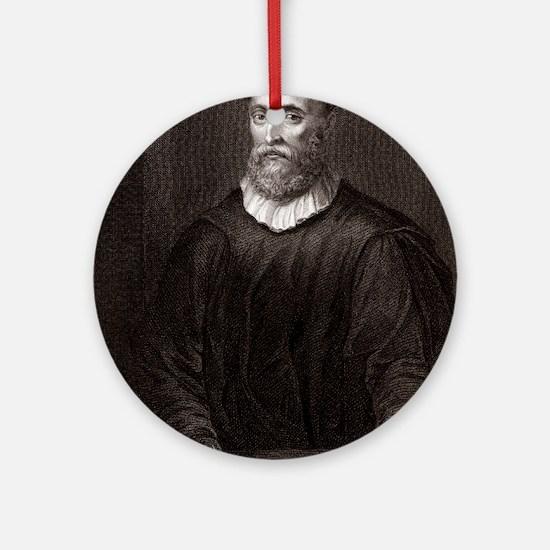 John Knox, Scottish theologian Round Ornament
