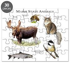 Maine State Animals Puzzle