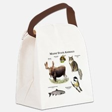 Maine State Animals Canvas Lunch Bag