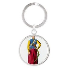 Ottoman Turkish officer, artwork Round Keychain
