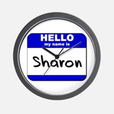 hello my name is sharon  Wall Clock
