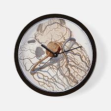 Heart anatomy, 19th Century illustratio Wall Clock