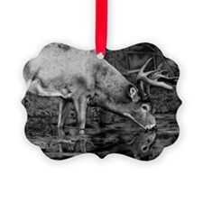 Deer Drawing 2013 Ornament