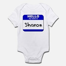 hello my name is sharon  Infant Bodysuit