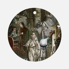 Hennig Brand discovering phosphorus Round Ornament