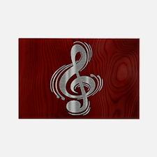 clef-woodsteel-OV Rectangle Magnet