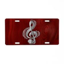 clef-woodsteel-OV Aluminum License Plate