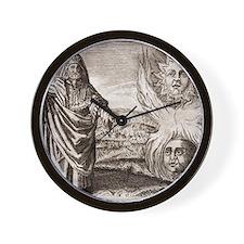 Hermes Trismegistus, classical god Wall Clock