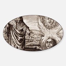 Hermes Trismegistus, classical god Sticker (Oval)