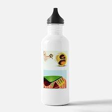 Human ear anatomy, art Water Bottle