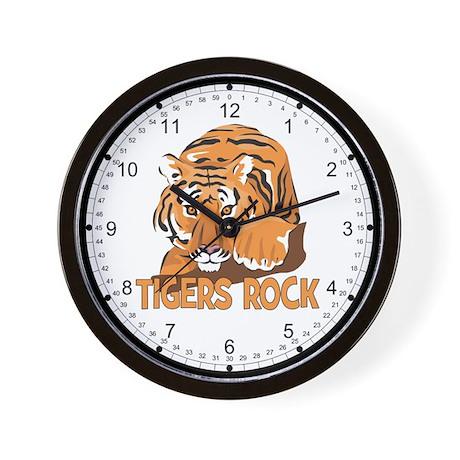 Tigers Rock Wall Clock