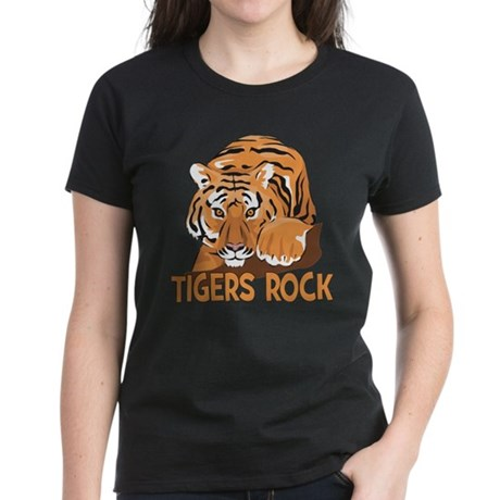 Tigers Rock Women's Dark T-Shirt