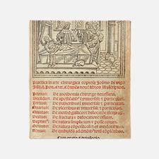 Italian book on surgery, 1514 Throw Blanket