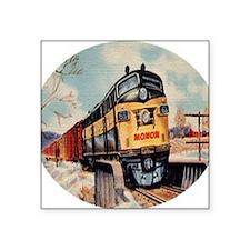 "Monon Freight Square Sticker 3"" x 3"""