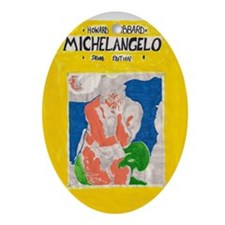 miguel angelo Oval Ornament