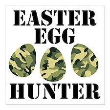 "Easter Egg Hunter Square Car Magnet 3"" x 3"""
