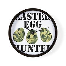 Easter Egg Hunter Wall Clock