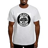 Alaska railroad Mens Light T-shirts
