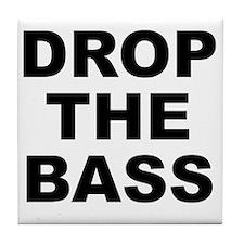 DROP THE BASS Tile Coaster