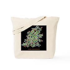 Insulin molecule Tote Bag