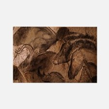 Stone-age cave paintings, Chauvet Rectangle Magnet