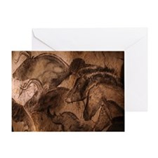 Stone-age cave paintings, Chauvet, F Greeting Card