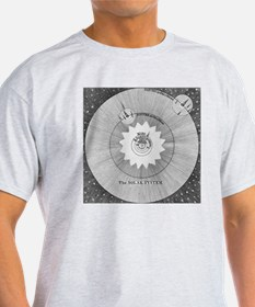 Solar system, 18th century engraving T-Shirt