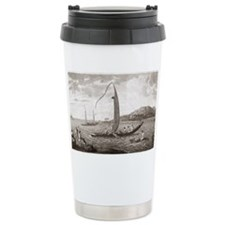 Tahiti seen from the se Travel Mug