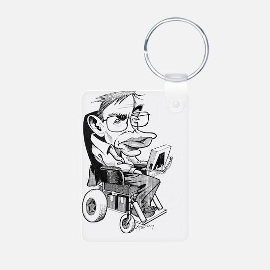 Stephen Hawking, British p Aluminum Photo Keychain