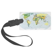 World Atlas Luggage Tag