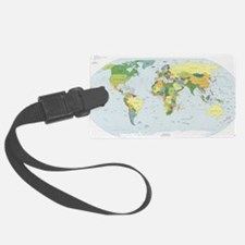 World Atlas Luggage Tag