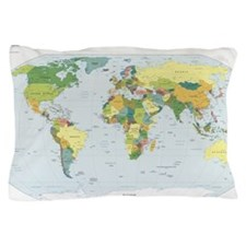 World Atlas Pillow Case