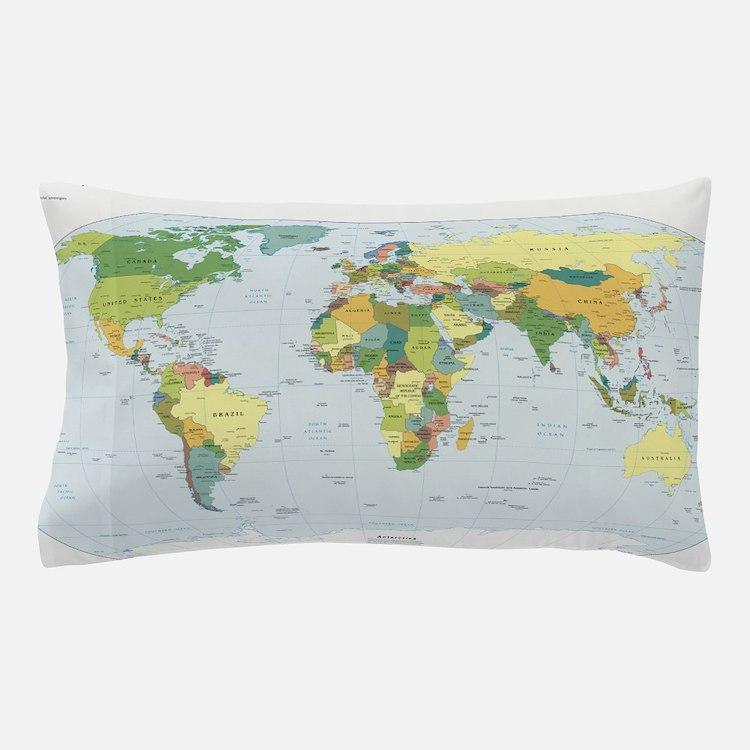 World Atlas Pillow Case