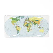 World Atlas Aluminum License Plate