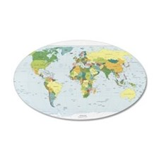 World Atlas Wall Decal