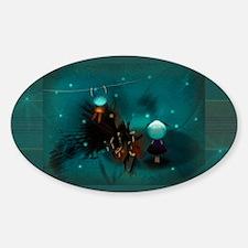 Planets, space, kids : a story Sticker (Oval)