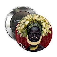 "1968 Papua New Guinea Headress 60c Po 2.25"" Button"