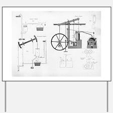 Pumping engines, 19th century Yard Sign