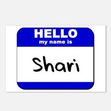 hello my name is shari  Postcards (Package of 8)