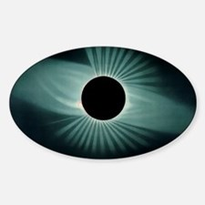 Total solar eclipse, 1878 Sticker (Oval)