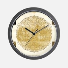 19th century map of the Moon Wall Clock
